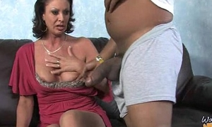 Titillating mummy gets a creamy facial check d cash in one's checks getting pounded in foreign lands from a gloomy dude 3