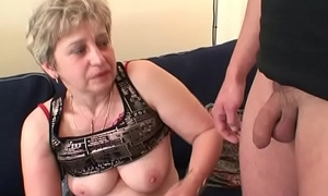 Very old woman swallows two cocks substantiation masturbation