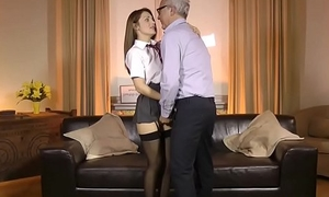 UK schoolgirl doggystyled by pensioner
