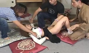 Japanese schoolgirl eccentric spanking and triplet Subtitled
