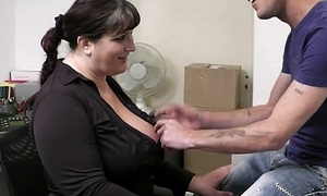 BBW takes well-found hard immigrant behind by co worker