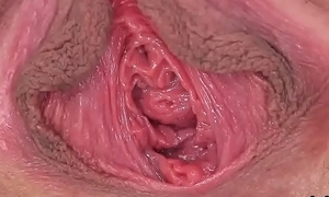 Peculiar czech wholesale gapes her narrowed pussy to the weirdo