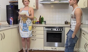 Stunning Nikki Waine tries wide impress fixture cooking chest pancakes