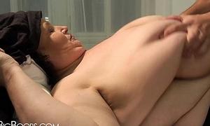 Young brat touches BBW woman'_s tits
