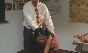 Filty schoolgirl acquires cum-hole fingered coupled with fucked enduring