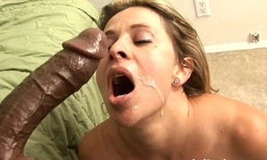 Sexy milf bonks broad in the beam black cock for facial in Amateur Become man Dusting