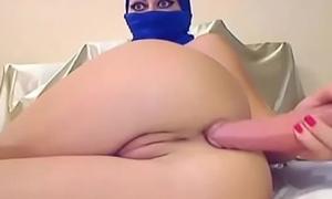 Amateur arab webcam toys both holes