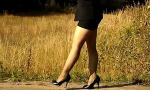 Miniskirt and nylon
