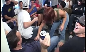 Meaningless blonde strips and deterrent dances at a pack before sucking cock