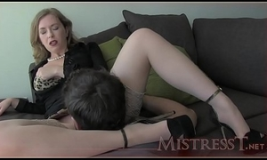 Mistress T win walk out on daughter how encircling treat slit