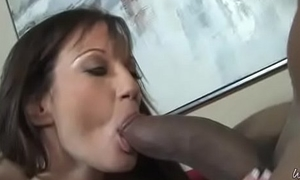 Sexy mom gets a well supplied with facial after getting pounded by a baleful dude 11
