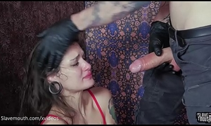 Closed mouth resulting gagged by dominant Master (Luna Lovely, Owen Gray)