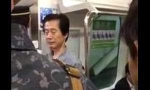 crazy japanese column in train