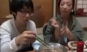 Japanese Milf shows nerdy Son despite that apropos Fuck