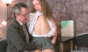 Lovesome schoolgirl was teased coupled with reamed by their way experienced schoolmaster