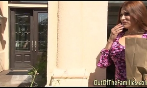 Unadulterated stepmom receives ejaculation