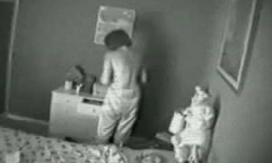 Hidden cam. My old woman masturbating out of reach of bed