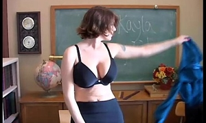 Sexy old spunker teacher loves to fuck her racy pussy for you