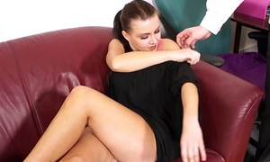 Ill-lit belive pretend agent she get work if suck his cock