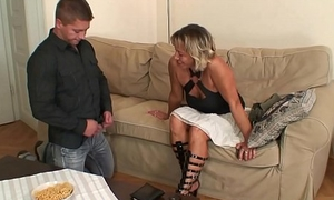 Girlfriends hot mom sucking and riding his randy cock